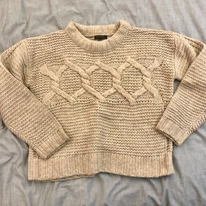 Banana Republic Cable Knit Crew Sweater